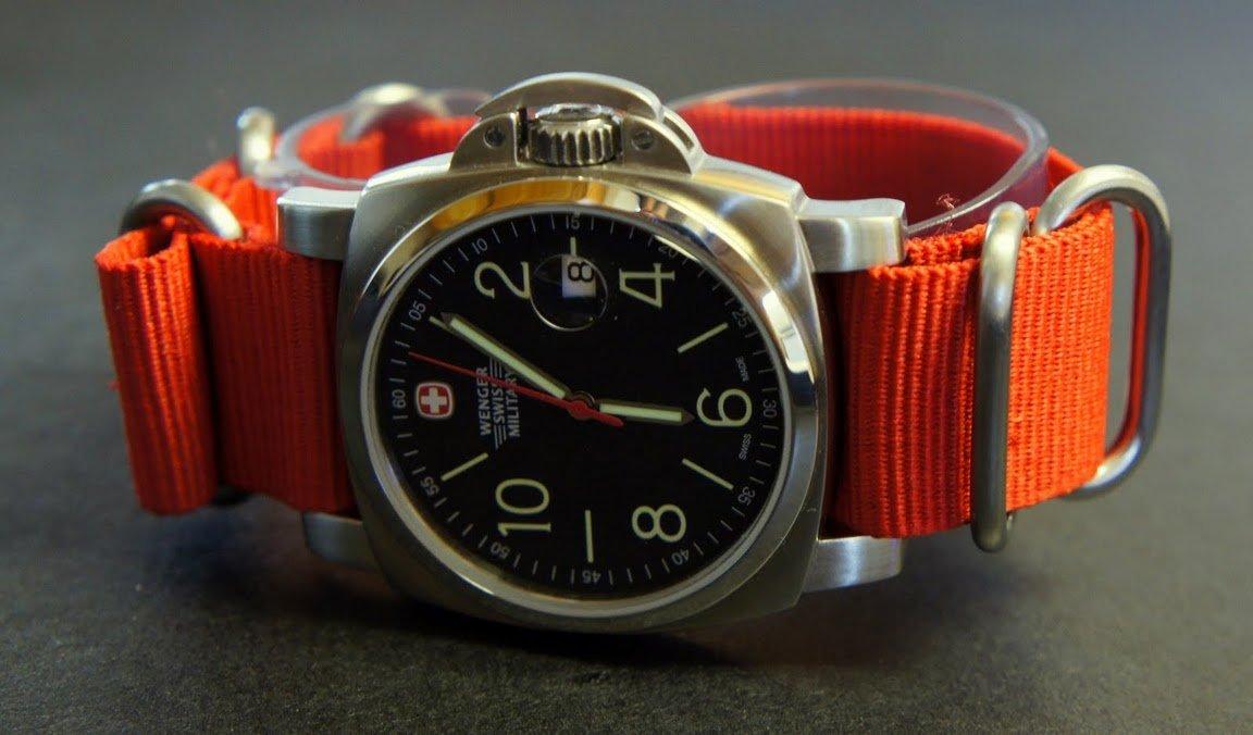 Red 22mm 5 Ring Zulu Nylon Watch Strap Band
