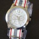 Ivory Red Black White 20mm Nato Nylon Watch Strap