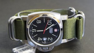 Military Green 24mm 5 Ring Zulu Nylon Watch Strap Band
