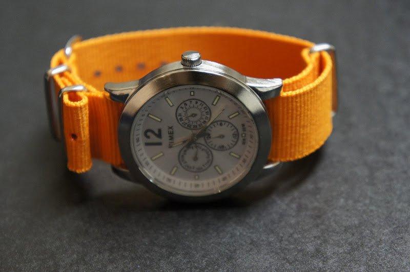 Orange 24mm Nato Nylon Watch Strap