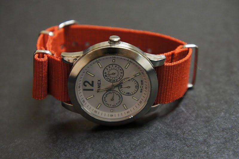 Red 18mm Nato Nylon Watch Strap
