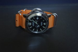 Orange 22mm 5 Ring Zulu Nylon Watch Strap Band