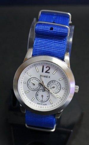 Blue 22mm  Nato Nylon Watch Strap
