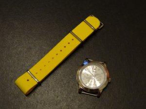 Bold Yellow 18mm James Bond Nato Nylon Watch Strap
