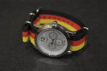 Black Red & Yellow Stripe 20mm Nato Nylon Watch Strap