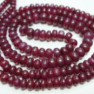RUBY CABOCHONE STRAND STRING NECKLACE
