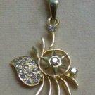 .31 CT DIAMOND PENDANT SOLID 18K GOLD FINE JEWELRY