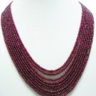 9Strand Stunning Natural Cabochon Red Ruby Necklace