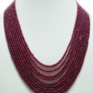 10Strand Stunning Natural Cabochon Ruby Beads Necklace