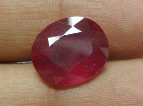8.12cts Stunning Natural African Red Ruby Gemstone