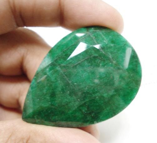 132.50cts Natural Brazilian Emerald Gemstone pear