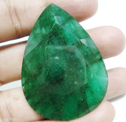 113.75cts Natural Brazilian Emerald Gemstone pear