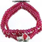 Handcrafted Natural Red Ruby Gemstone & Silver Necklace