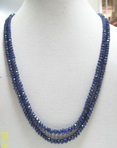 GORGEOUS BLUE SAPPHIRE FAR FACETTED NECKLACE UNIQUE