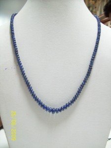 MAGNIFICENT  GEMSTONE BLUE SAPPHIRE NECKLACE SILVER