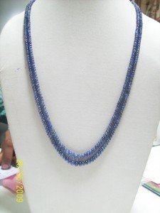 STUNNING BLUE SAPPHIRE LIGHT COLOR STRAND JEWERLY RARE!