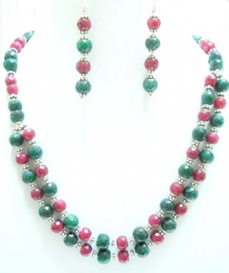 Designer Stunning Ryby&emerald  Necklace with silver