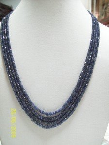 MAGNIFICENT BLUE SAPPHIRE FACETTED GEMSTONE NECKLACE