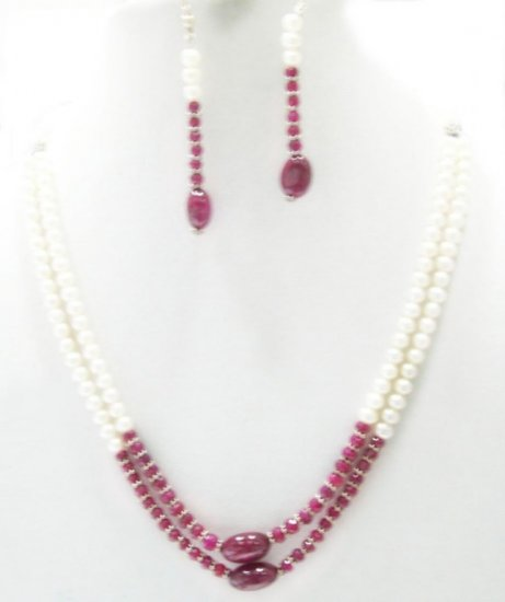 Designer Fresh Water pearl  Necklace with silver clasp