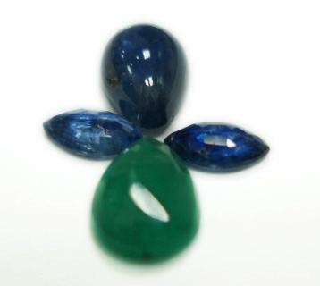 2.60cts stunning Natural Emerald$Sapphire Gemstone Lots