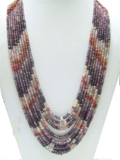 Handcrafted Natural Cabochon Red Ruby Beaded Necklace