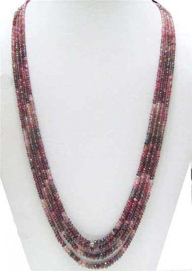 Designer  Natural Cabochon Red Ruby Beaded Necklace