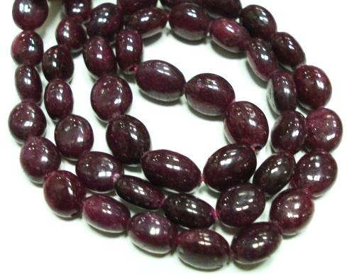 Single Strand Natural Ruby Beads Gemstone Strand 16""