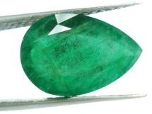 3.15cts Stunning Natural Zambian  Emerald pear Gemstone