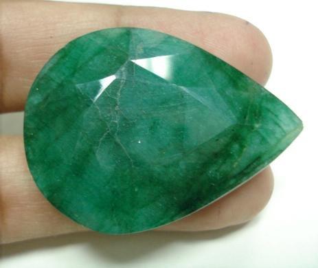 81.30cts Natural Brazilian Emerald Gemstone pear