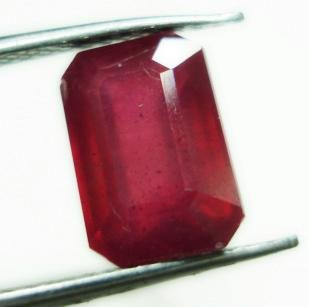 2.80cts Stunning Natural  African Ruby Rectangle shape