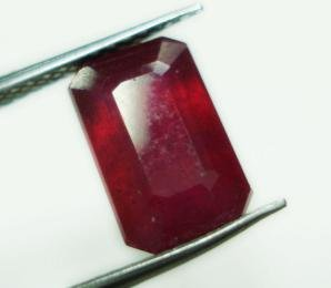 3.55cts Stunning Natural  African Ruby Rectangle shape