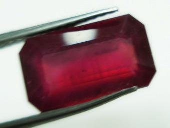 4.10cts Stunning Natural  African Ruby Rectangle shape