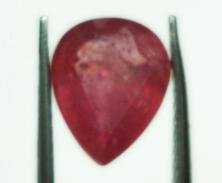 1.94cts stunning Natural African Ruby Gemstone pear