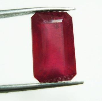 4.00cts Stunning Natural  African Ruby Rectangle shape