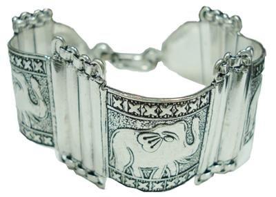 61.29gms Stunning Handcrafted German Silver Bracelet