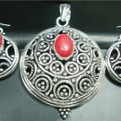 Handcrafted German Silver Pendant & Earring Sets
