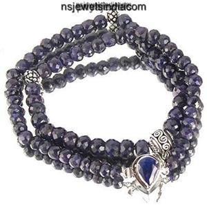 stunning Blue Sapphire natural beads Gemstone Necklace