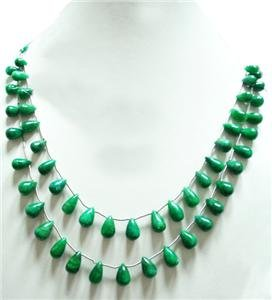 Handcrafted Natural Emerald Gemstone Beads Necklace