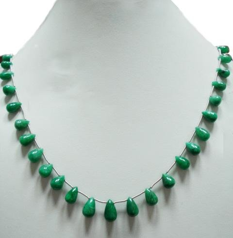 Handmade Natural Emerald Gemstone Beads Necklace