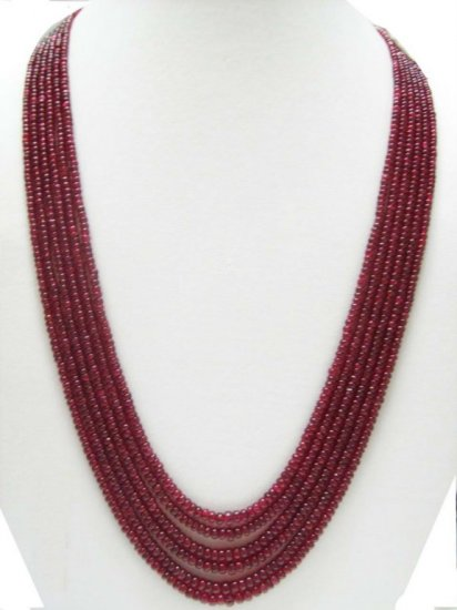 6 Strand Stunning Natural  Spinal  Beaded Necklace