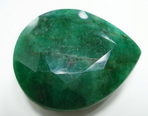 85.10cts Natural Brazilian Emerald Gemstone pear