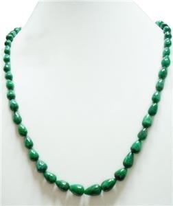 Stunning Natural Brazilian Emerald Gemstone Necklace
