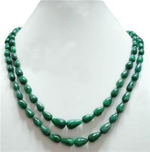 Handmade natural Brazilian Emerald Gemstone Necklace