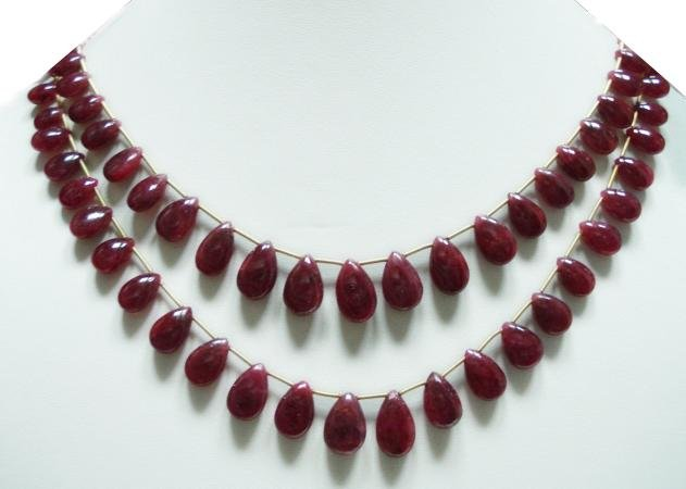 Designer Natural Cabochon Ruby Gemstone Necklace drop