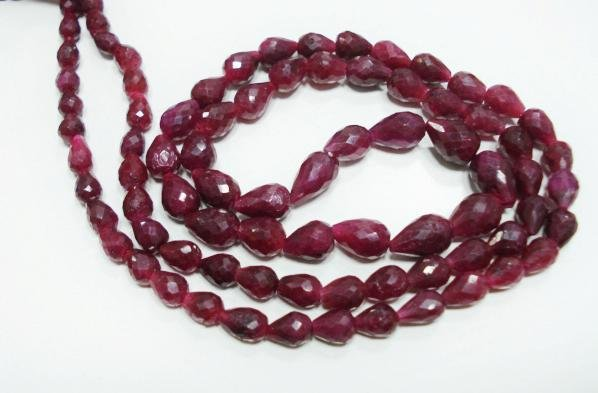 Handmade  Natural Cuting  Ruby Gemstone Necklace drop