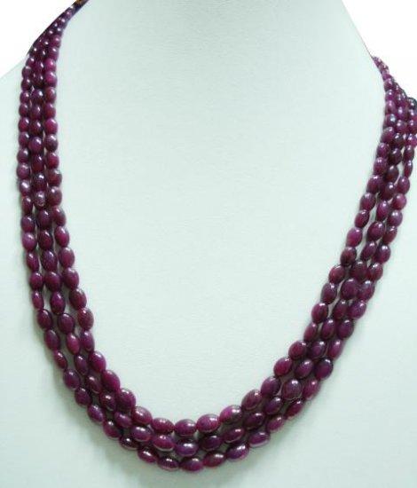 Designer Natural Cabochon Ruby Gemstone Necklace Beads