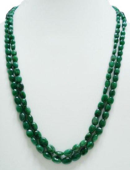 Brazilian Natural green Emerald Gemstone Necklace Beads