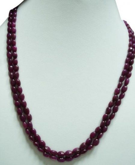 Handmade Natural Cabochon Ruby Gemstone Necklace Beads