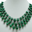 Designer Natural Green Emerald Gemstone String Drop