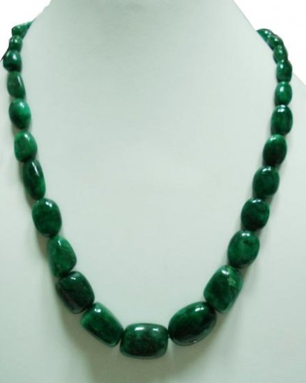 single strand Natural Emerald Gemstone necklace beads